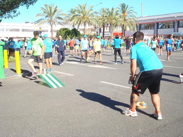 Jogo da rampa, um dos muitos jogos tradicionais que animaram os funcionários da Autoeuropa no dia aberto